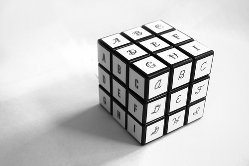 Typographic Rubik's Cube